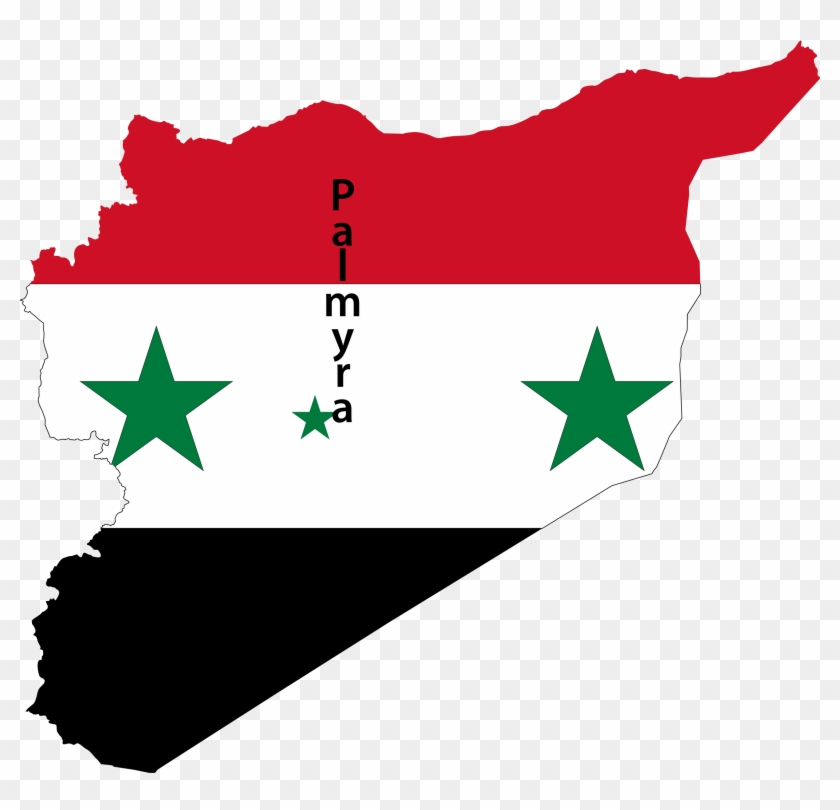 Big Image - Syria Map Flag #84779