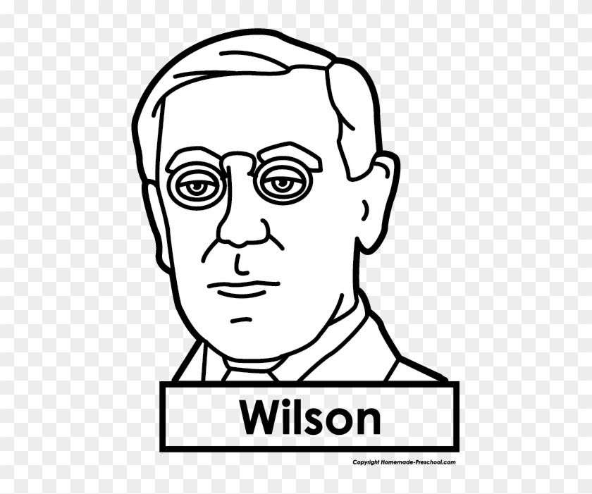 Name The Presidents Clip Art - Woodrow Wilson Easy To Draw #84785