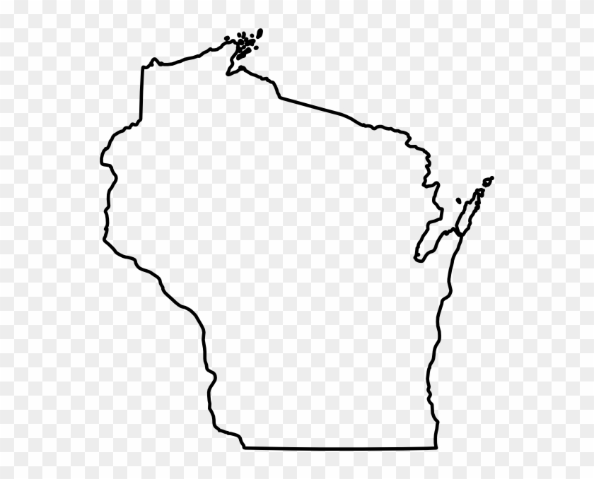 Wisconsin Silhouette Clip Art - Blank Map Of Wisconsin #84788