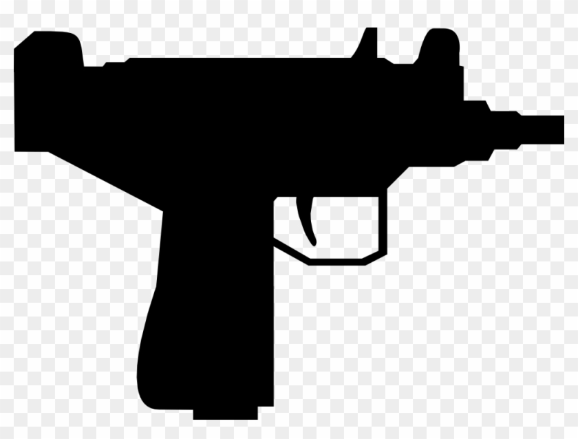 Outline, Silhouette, Cartoon, Gun, Mini, Machine, Guns - Gun Silhouette #84789