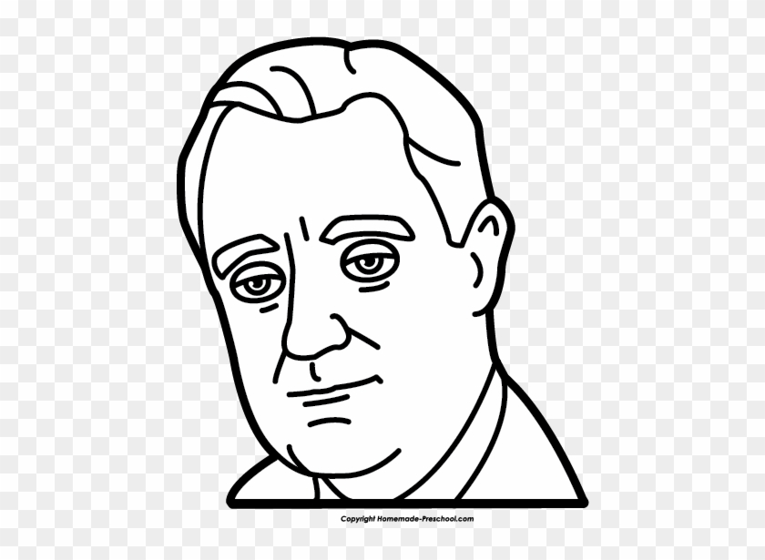 Click To Save Image - Franklin Roosevelt Clipart #84793