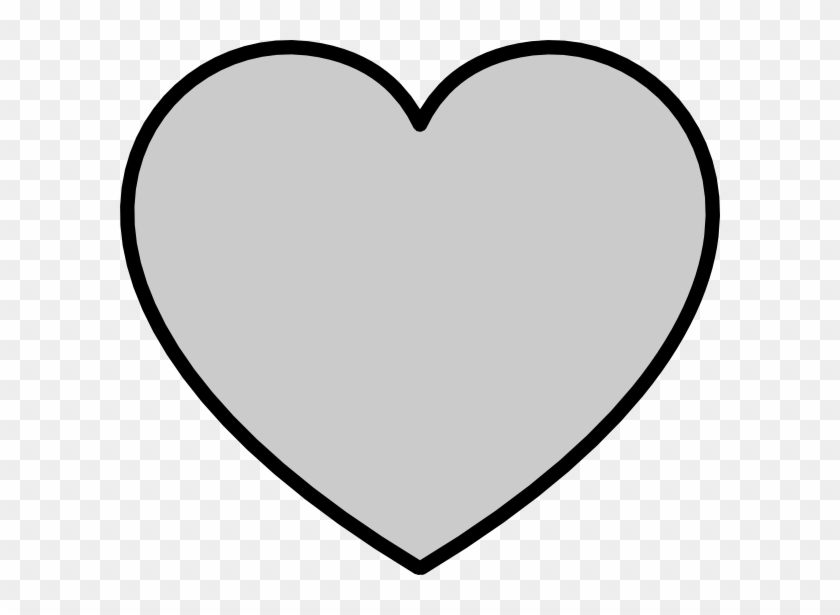 This Free Clip Arts Design Of Solid Gray Heart With - Gray Heart Outline #84811