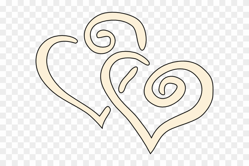 Cream Swirly Hearts Clip Art At Clker - Cream Heart Png #84817