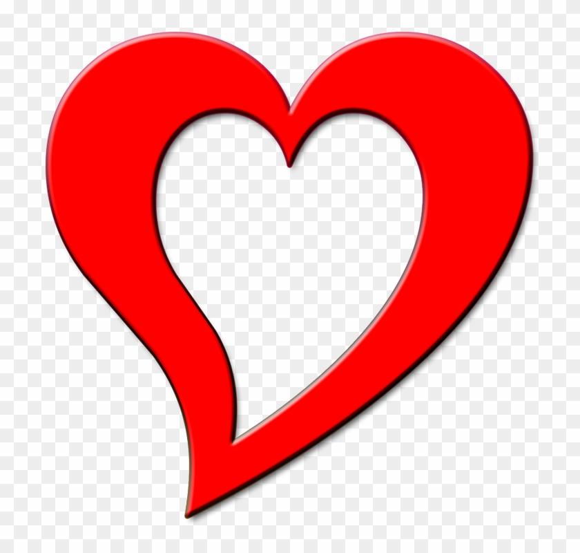 Free Illustration Red Heart Outline Design Love Image - Design Coeur #84818