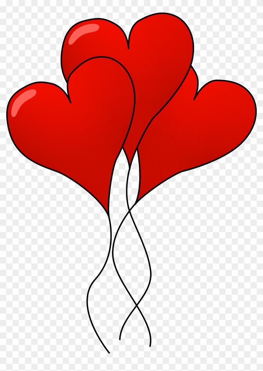 Clipart Heart Balloons - Heart Balloons Clip Art #84835