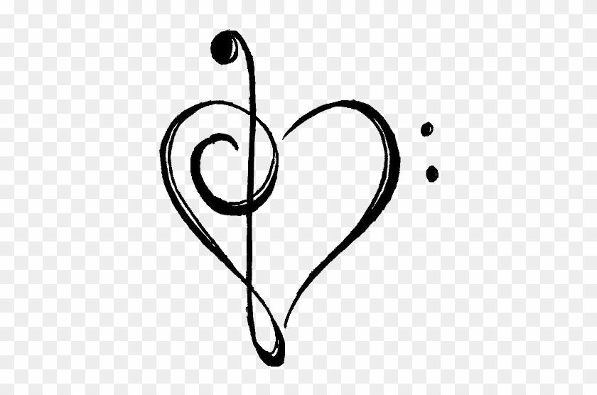 Music Notes Transparent Clipart Panda Free Clipart - Music Note Heart Transparent #84891