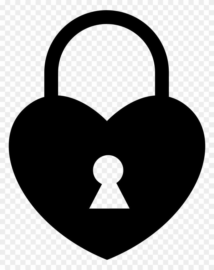 Heart Shaped Locked Padlock Comments - Heart Lock Png #84939