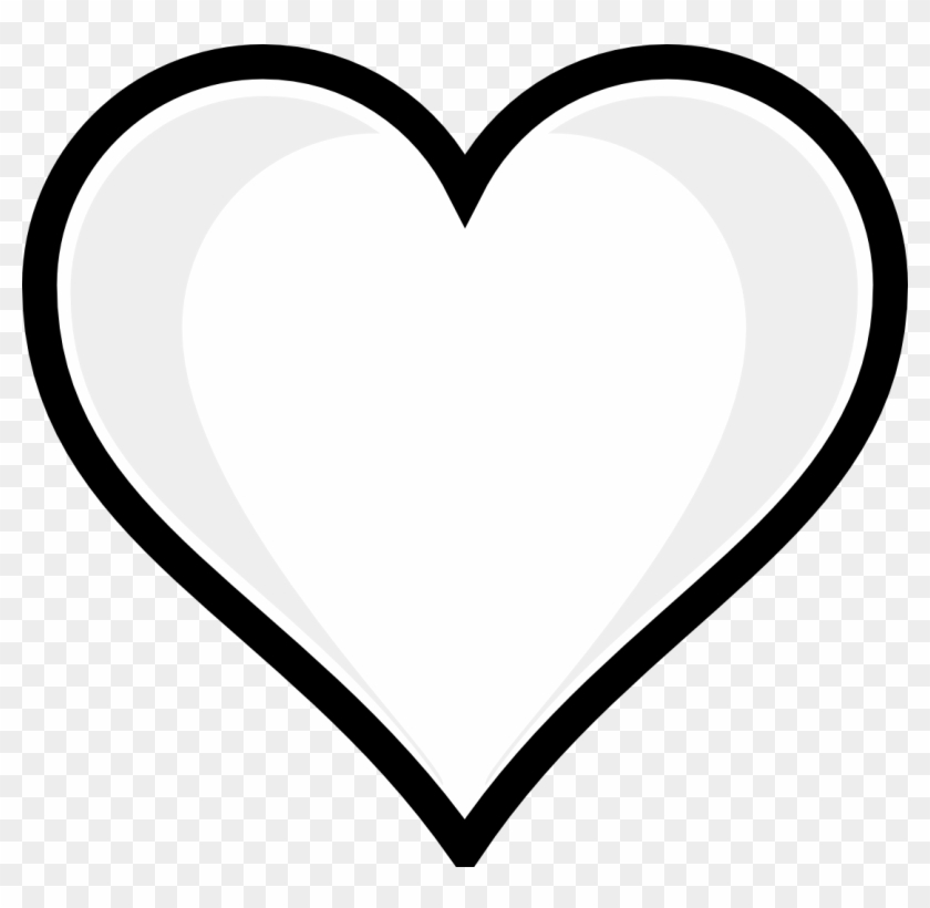 Heart Printable Image Copy Free Coloring Pages For - Heart Clipart Black And White #84942