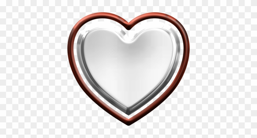 Valentine's Day Free Clip Art - Silver And Red Hearts Png #84944