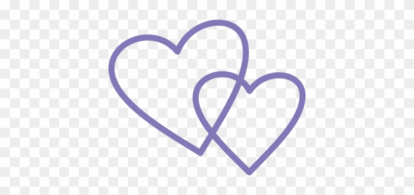 Purple Double Heart Shapes Svg - Scalable Vector Graphics #84961