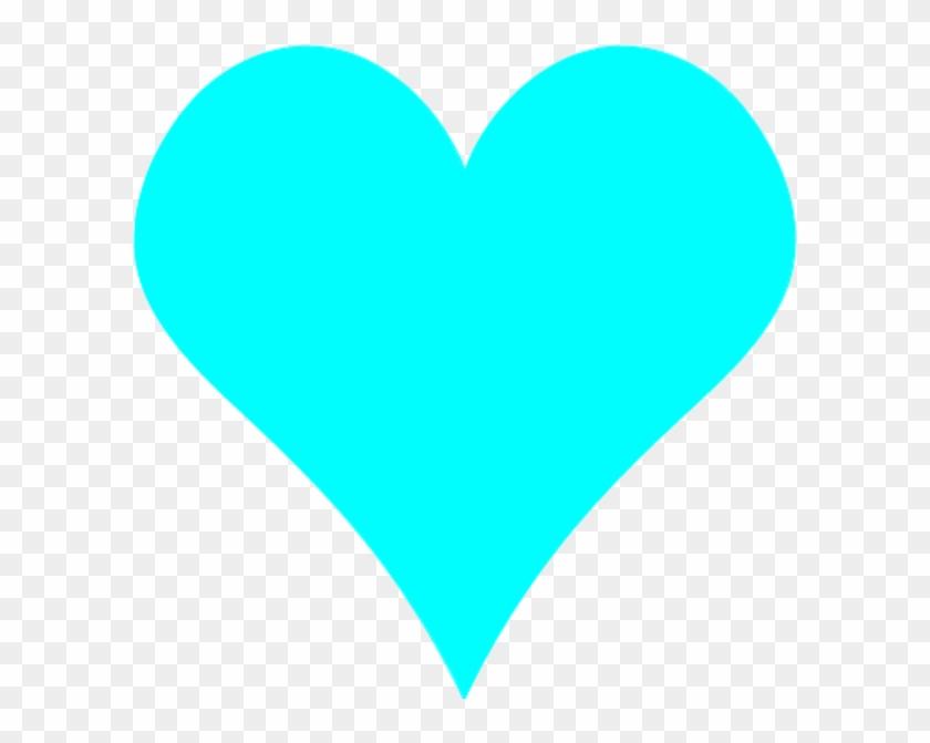 Teal Heart Clip Art Clipart - Light Blue Love Heart #84980