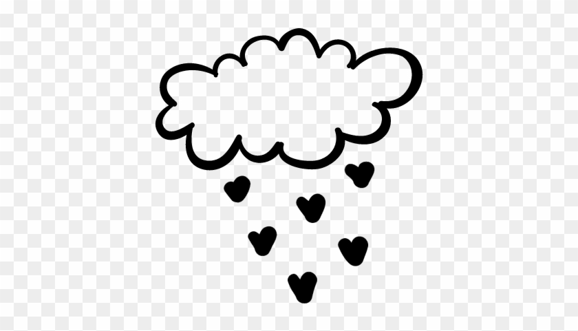 Cloud Raining Heart Shapes Vector - Lluvia De Corazones Vector Png #85006