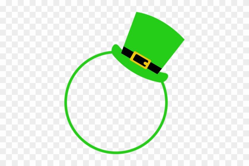 St Patrick's Hat Monogram - Saint Patrick's Day #85014