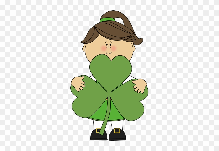 With The Topic Of Graphing Coming Up In Math, Her Clipart - St Patricks Kids Clipart #85023