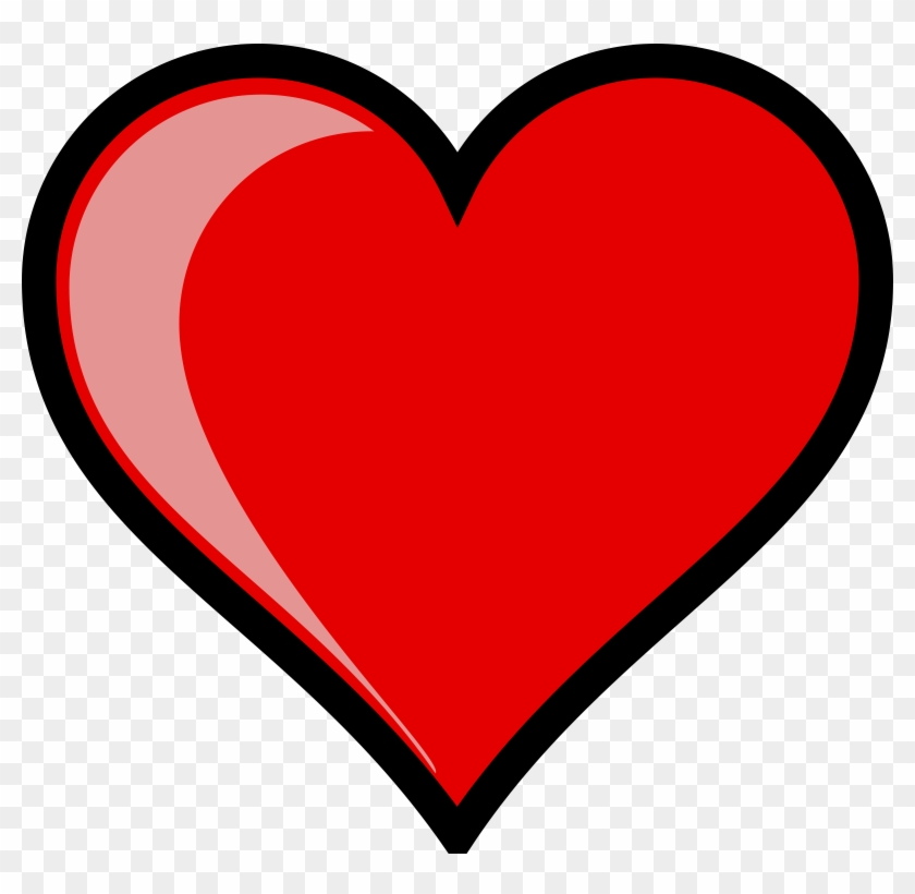 Heart Left Highlight Free Vector - Heart Clipart #85050