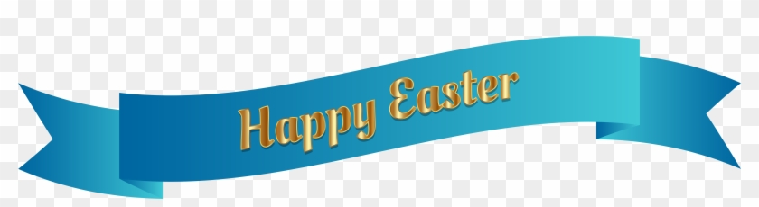Blue Happy Easter Banner Png Clip Art Image - Happy Easter In Blue #85222