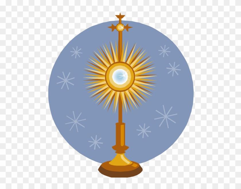 Clip Art Blessed Sacrament Clipart - Adoration Clipart #85284