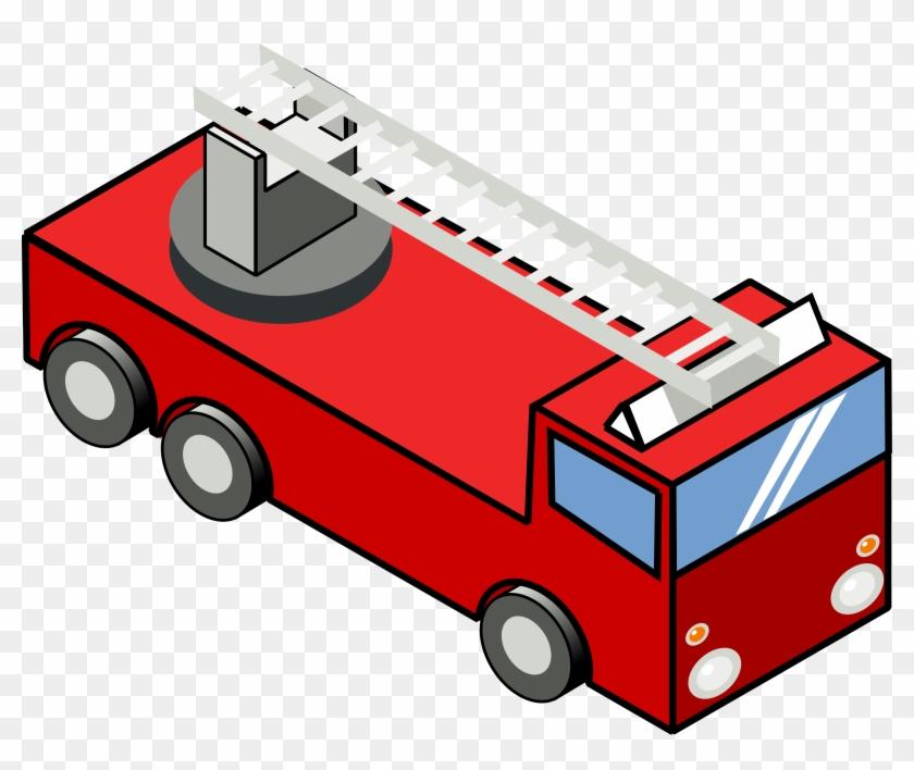 Big Image - Fire Truck Clip Art #85366