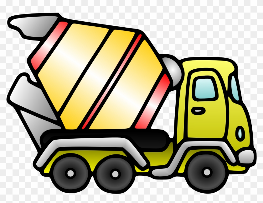 Toy Truck Clip Art Christmas Xmas - Cement Truck Clip Art #85405