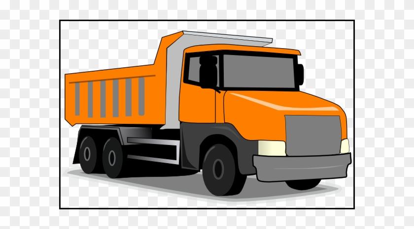 Free Truck Clipart Truck Icons Truck Graphic Clipart - Orange Dump Truck Clip Art #85430