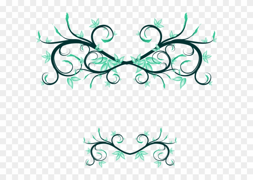 Wedding And Certificate Floral Border, Border Clipart, - Vector Graphics #85486