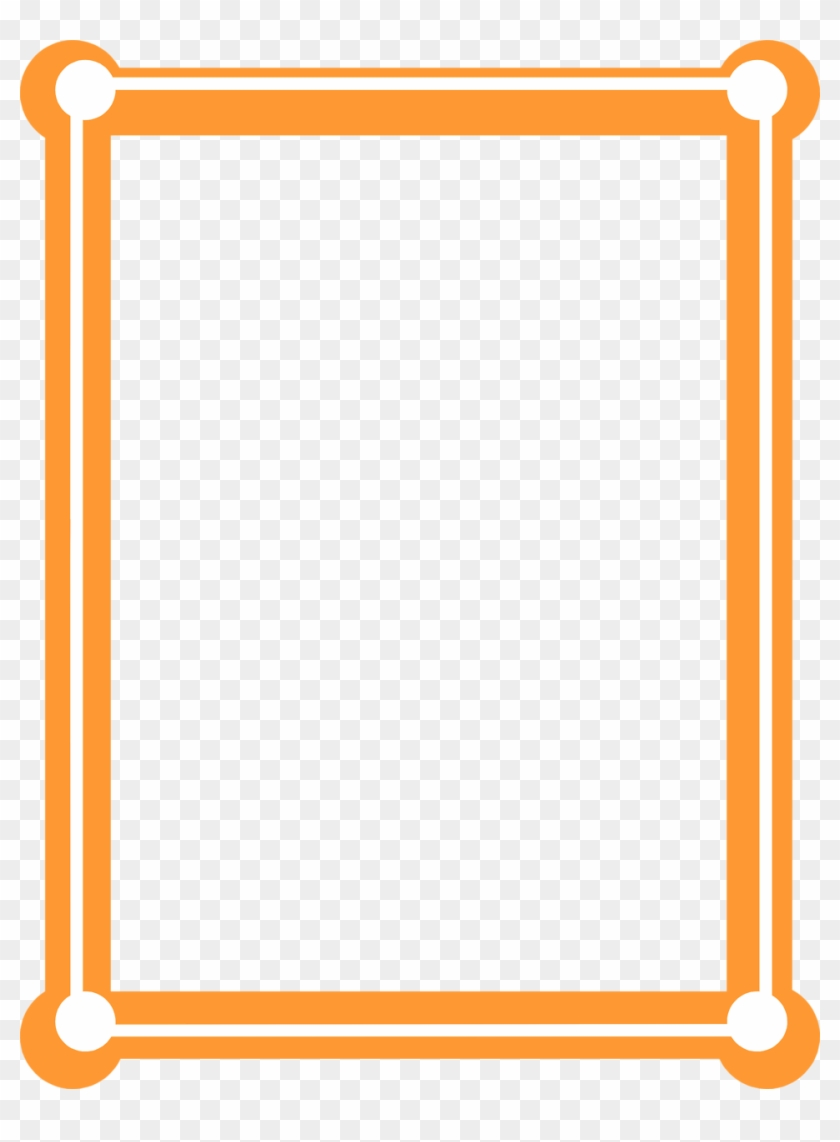 Orange Clipart Picture Frame - Orange Borders And Frames - Free ...
