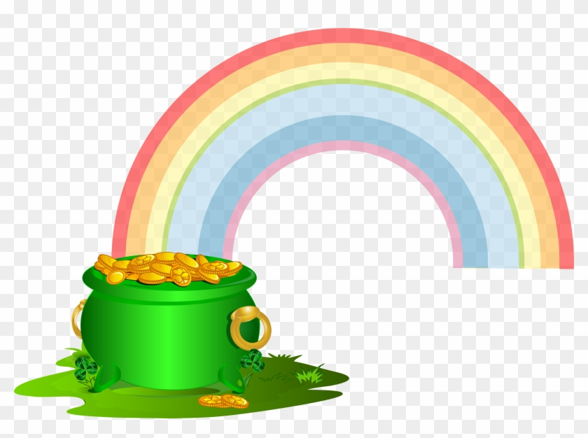 0, - Rainbow Pot Of Gold Png #85507