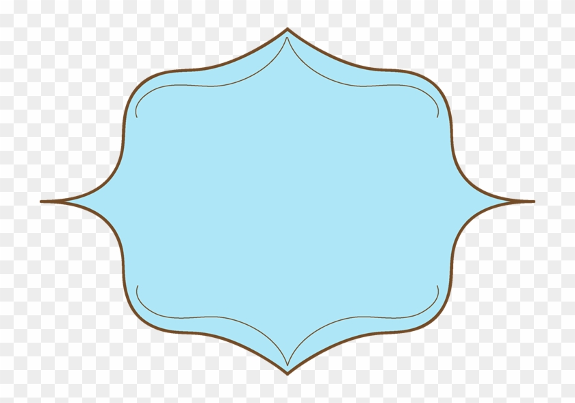 Shapes Clipart Elegant Shape - Blue Label Frame Png #85538