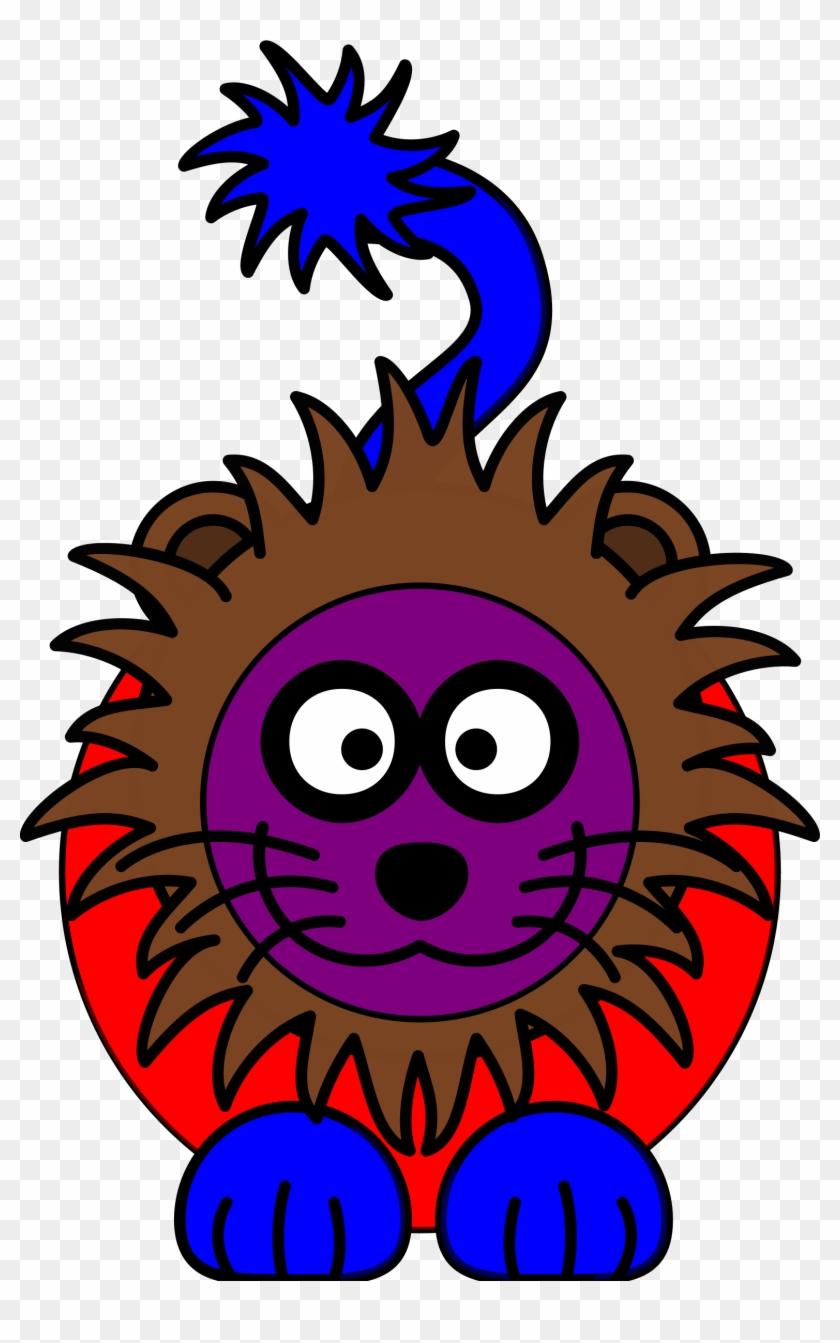 Purple Clipart Lion - Cartoon Lion #85550