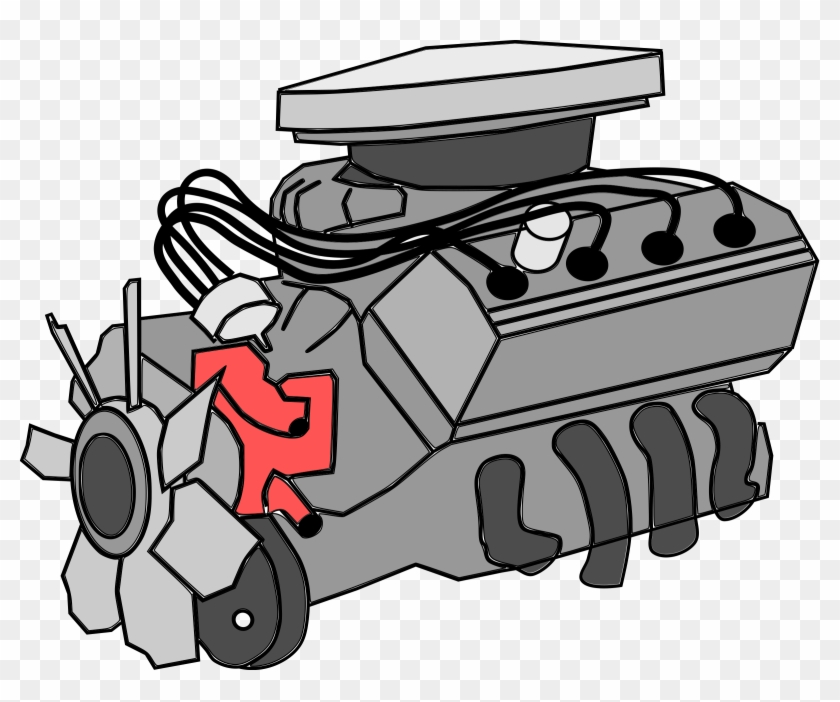 Engine Clipart Aaph - Internal Combustion Engine Clipart #85624
