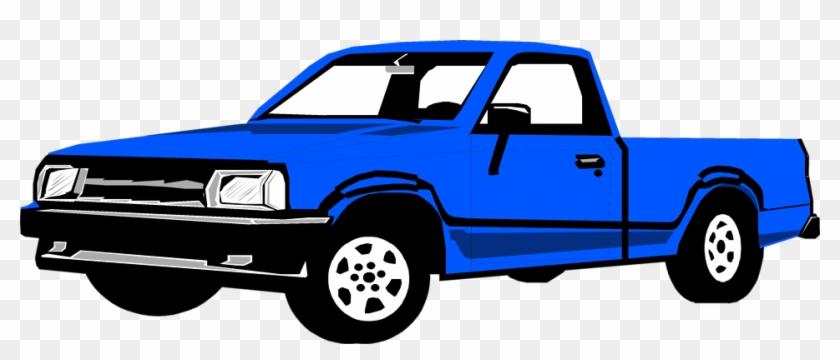 Blue Truck Clipart Kid - Pick Up Truck Stock #85625
