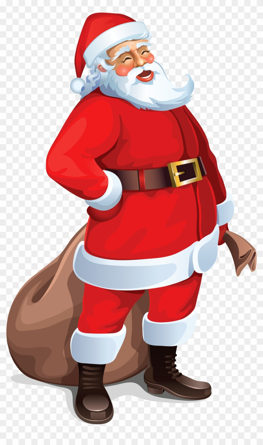 Urgent Free Pictures Of Santa Claus With Green Bag - Santa Claus Png #85642
