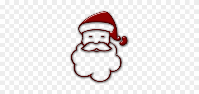 Santa simple. Clipart images of claus