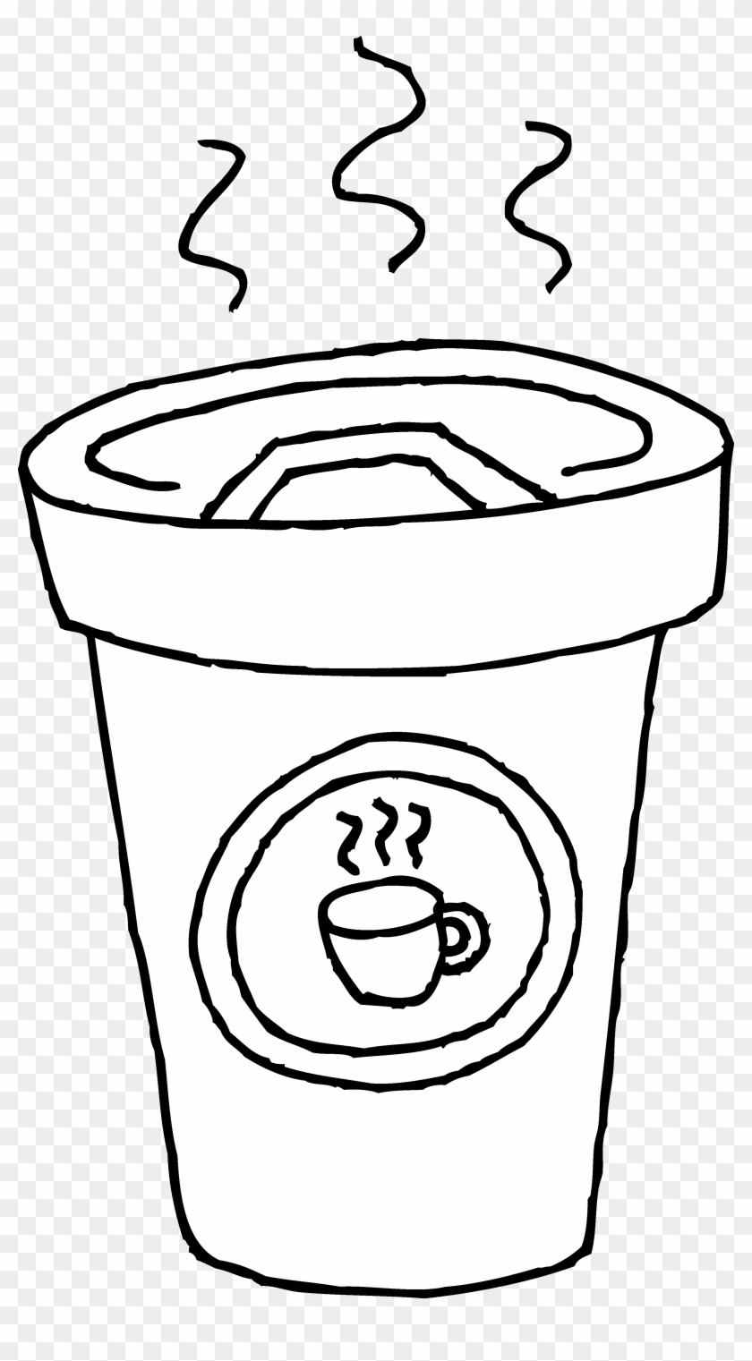 Drawn Mug Coloring Pages - Coffee Cup Clip Art #460776
