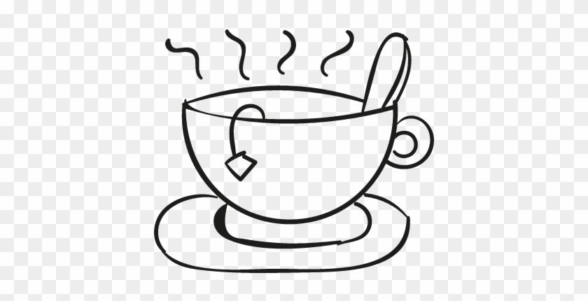 Hot Mug Doodle Vector - Cup Of Tea Doodle #460788
