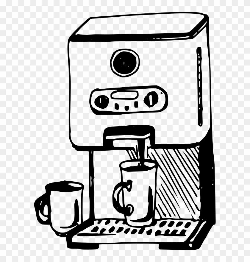 Machine Clipart Coffee Maker - Coffee Machine Clipart #461169