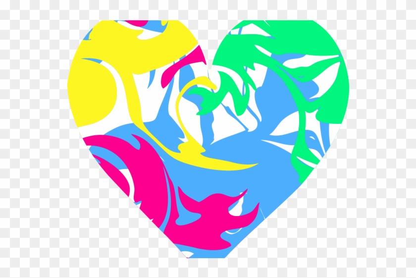 Heart Clipart Clipart Colourful Heart - Colorful Heart Clipart #461411