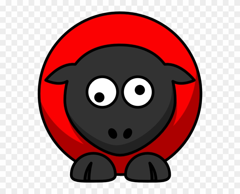 Red On Red On Black Googly Eyes Clip Art At Clker - Desenho Gnu #461422