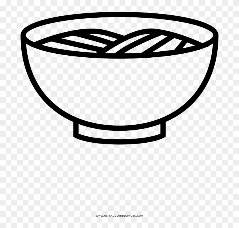 Dibujo De Tallarines Para Colorear Plato De Sopa Para Colorear