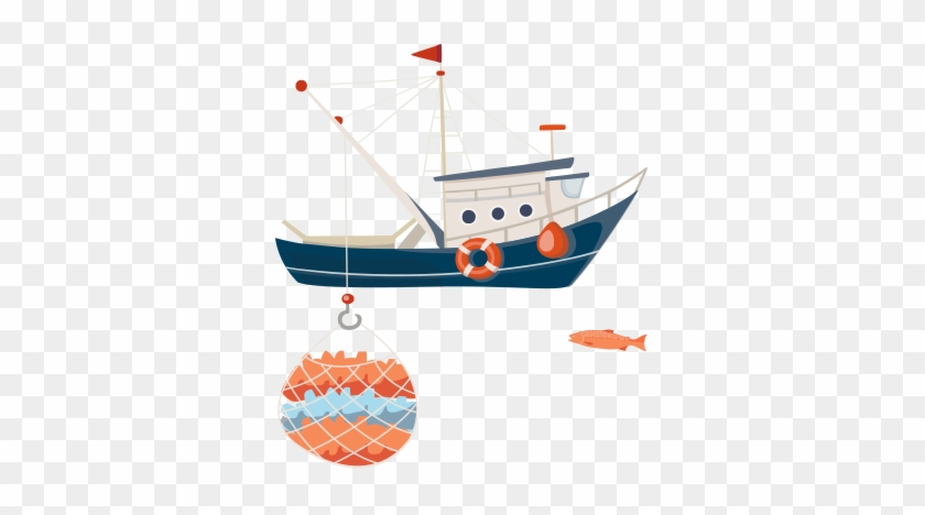 boat fish traceable in the sea while purse seine fishing free