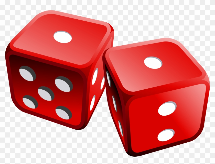 Red Dices Png Clipart - Red Dice Clip Art #461918