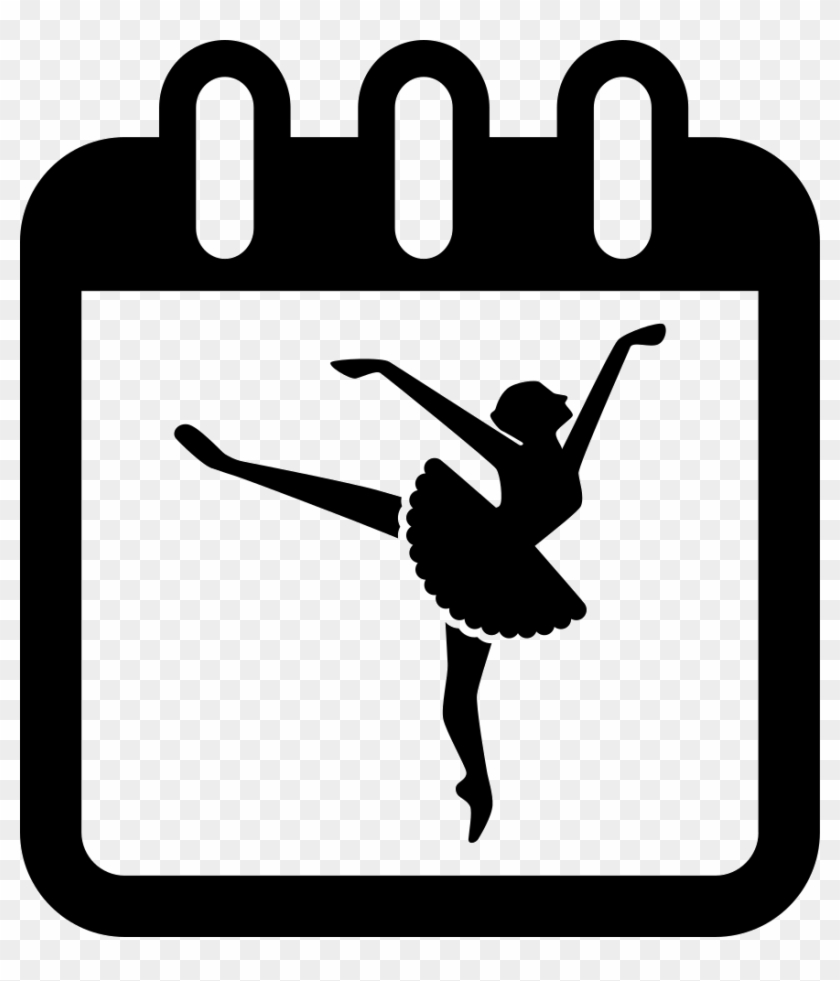 Ballet Dancer On Calendar Page To Remind Class Day - Dancer Icon Png #462476