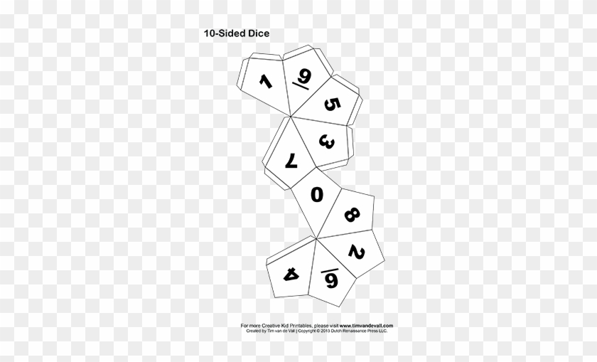Printable 10 Sided Dice Printable 10 Sided Dice - Make A 10 Sided Dice #462723