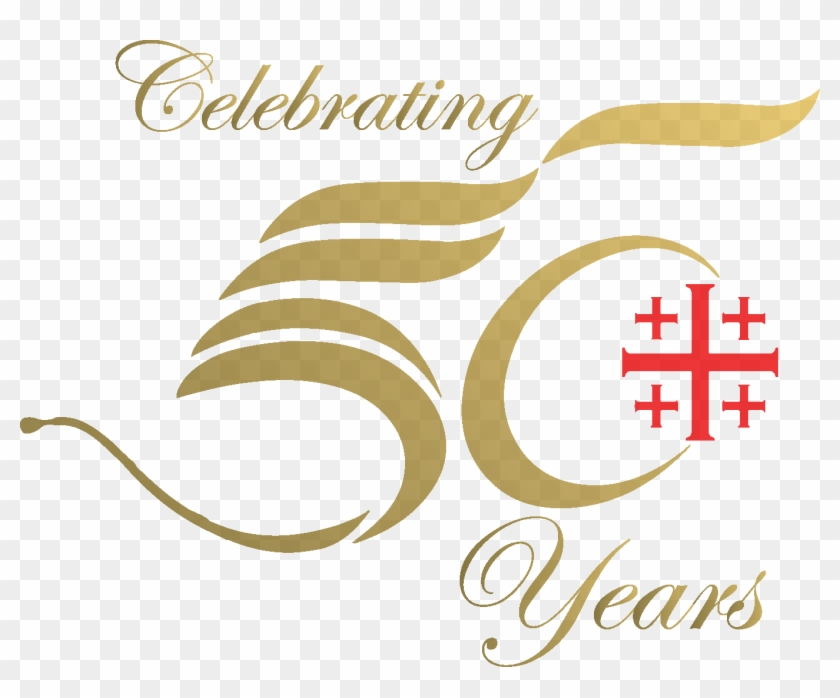 Golden 50th Wedding Anniversary Icons Logo For 50 Years