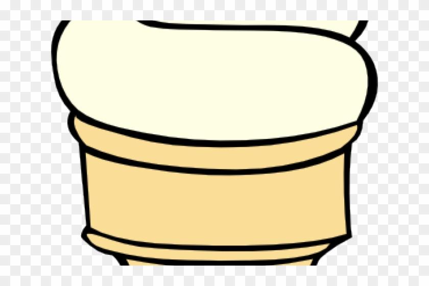 Ice Cream Clipart Vanilla - Ice Cream Cone Clip Art #462792