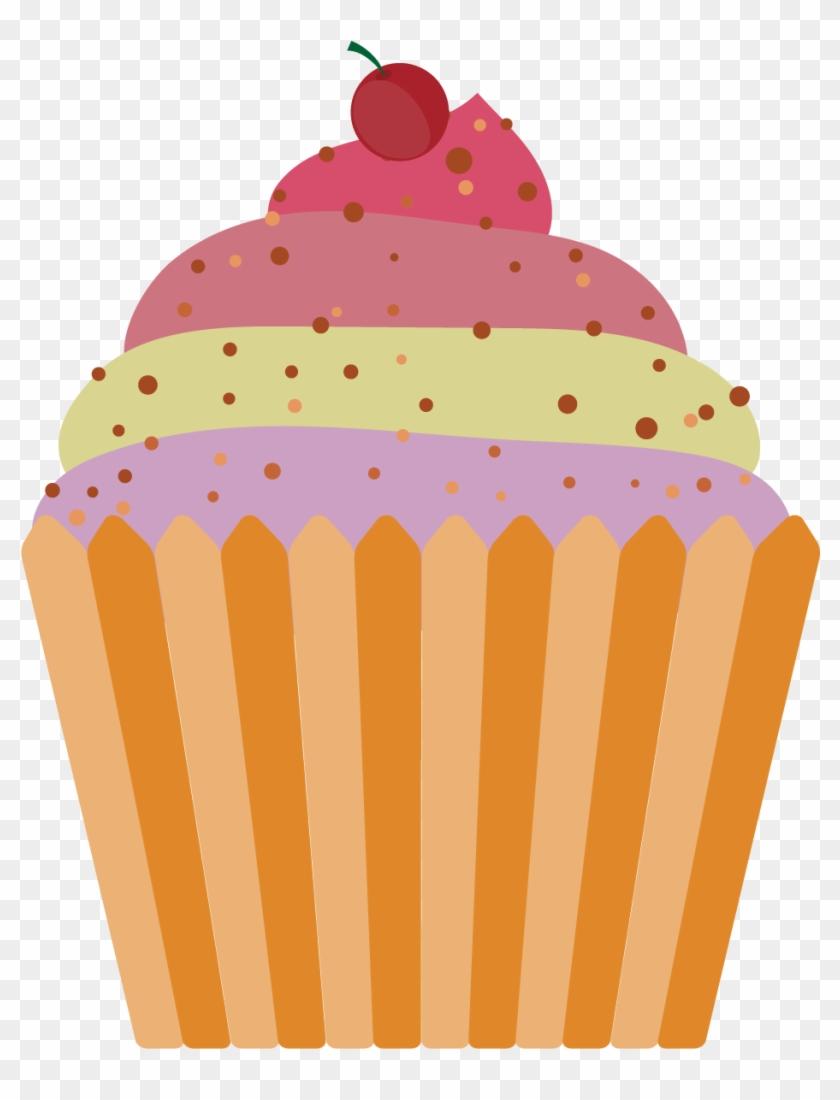 Ice Cream Cone Cupcake Muffin - Cartoon Cupcake Png #462966
