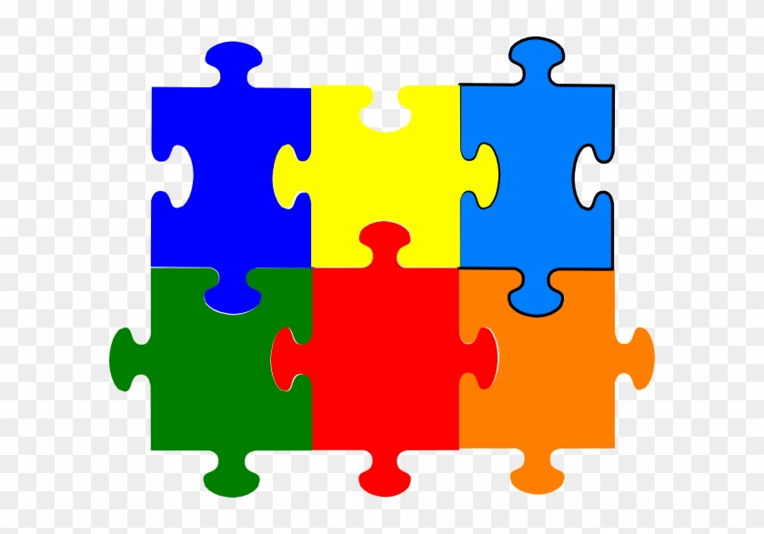Free Jigsaw Puzzle Pieces - Colored Blank Puzzle Pieces #463123