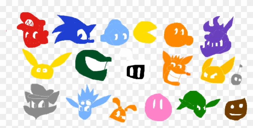 Video Game Character Symbols By Spyroup Cool Characters Game