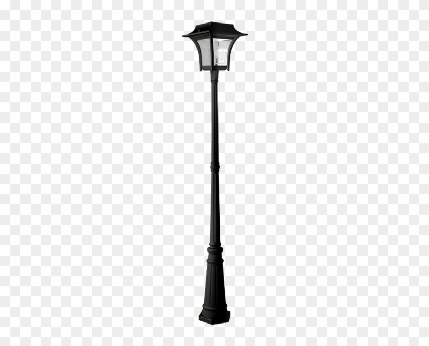 Perfect Flat Style Streetlamp Set Urban Road Stock - Black Outdoor Lamp Post #463568