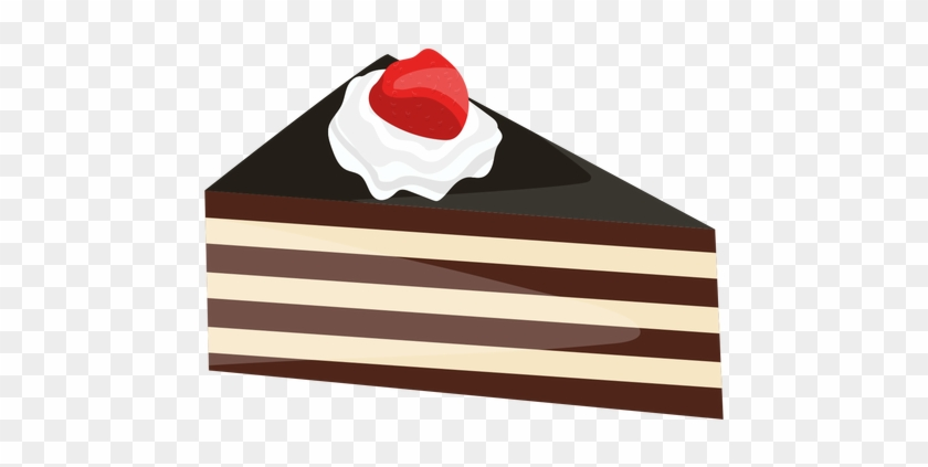 Triangle Cake Slice With Strawberry Transparent Png - Desenho Fatia De Bolo Png #463702